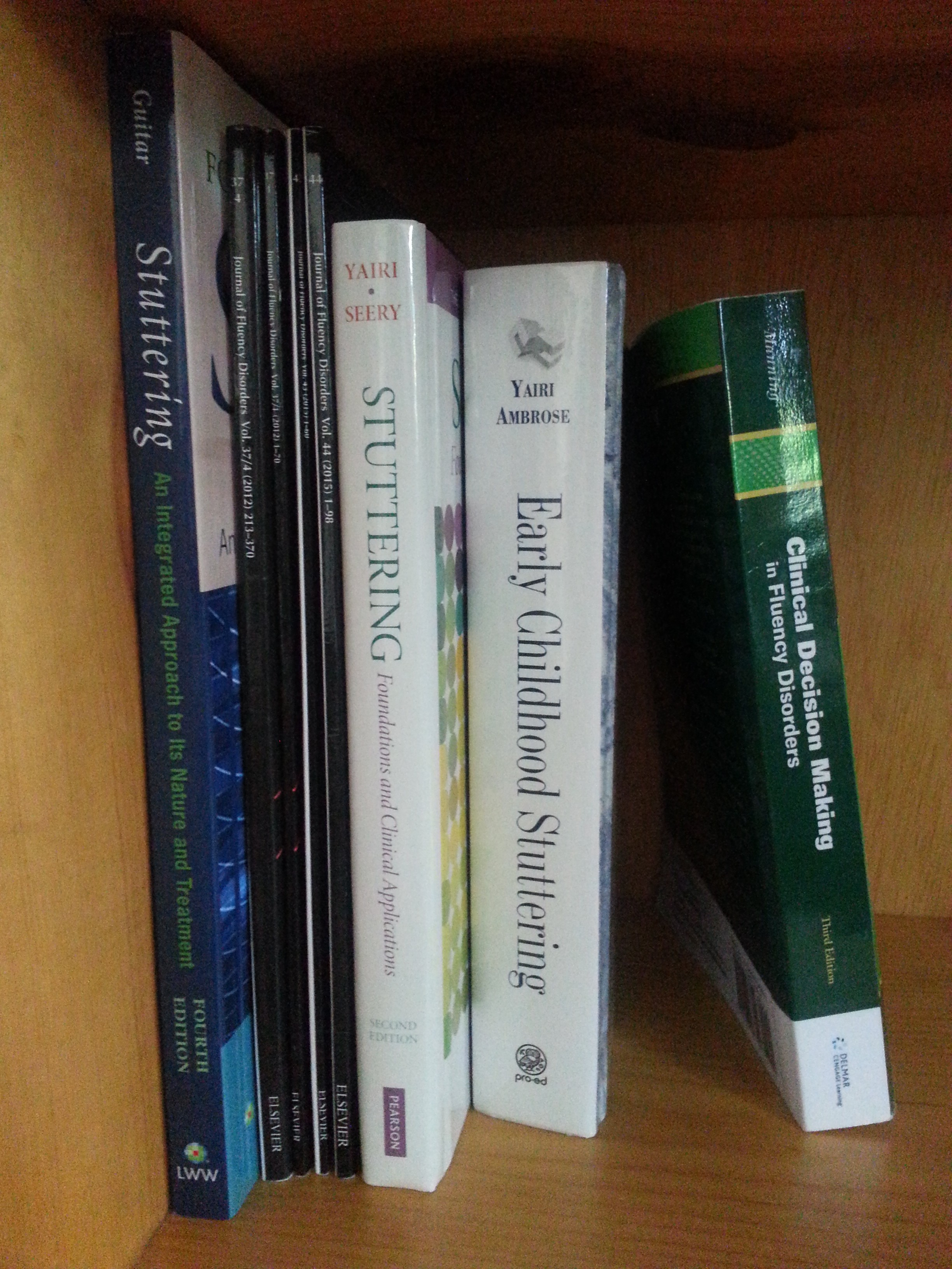 Stuttering textbooks and JFD